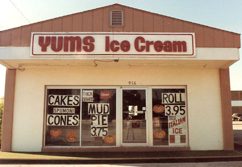 Old Yums Ice Cream Building